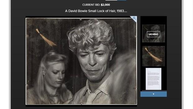Mecha loira atribuída a David Bowie será leiloada em Beverly Hills