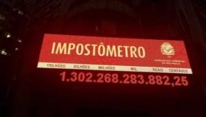 Impostômetro já ultrapassa R$ 1,3 trilhão em 2017